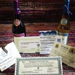 September 2014 First Friday prizes for Selfie Scavenger Hunt.
