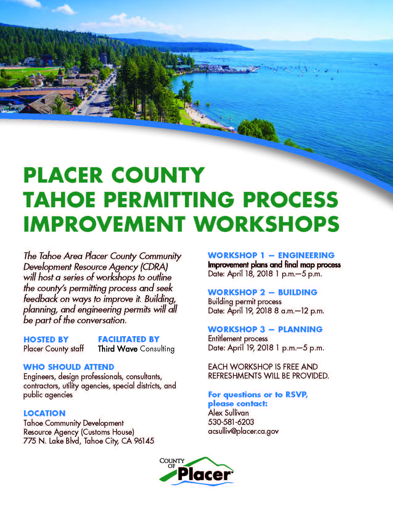 Placer County Process Improvement Workshops - Tahoe City